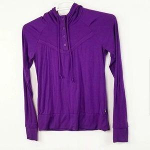 The North Face womens 1/4 button purple pullover